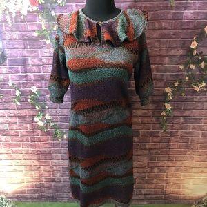 AMAZING 1970's Vintage Missoni Metallic Knit Dress